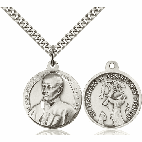 Bliss St Ignatius and St Francis of Assisi Medal Necklace