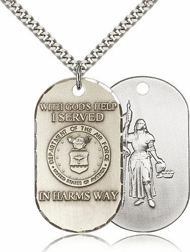 Bliss Mfg Military St. Joan of Arc Air Force Necklace