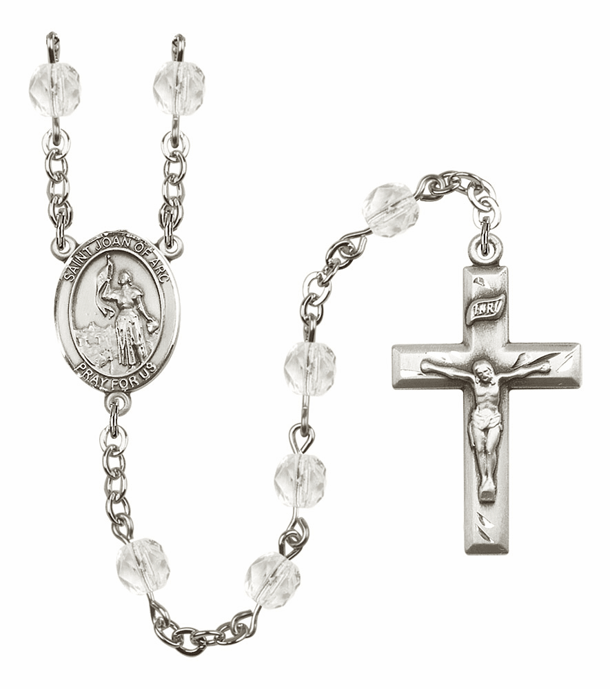 Bliss Mfg St Joan of Arc April - Crystal Birthstone Rosary