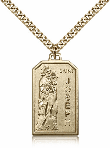 Bliss Mfg. St Joseph 14kt Gold Filled Patron Saint Medal Necklace
