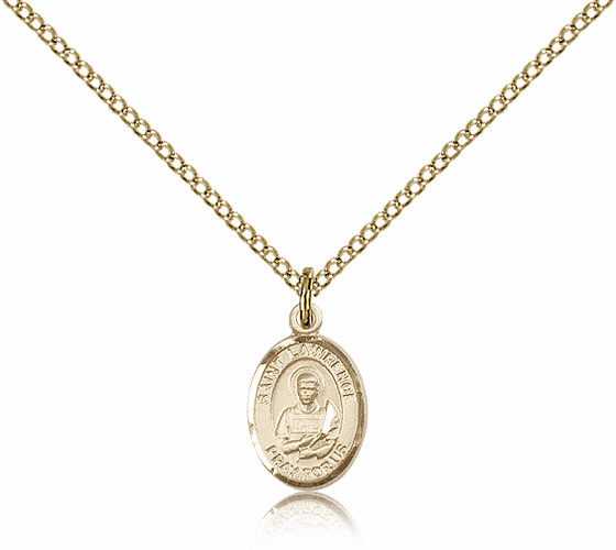 Bliss Mfg St Lawrence 14kt Gold-filled Religious Saint Medal Necklace
