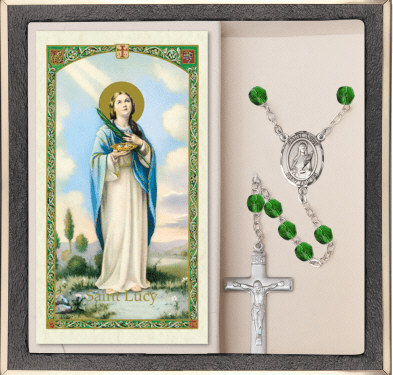 Bliss Mfg St Lucy Prayer Rosary with Holy Card