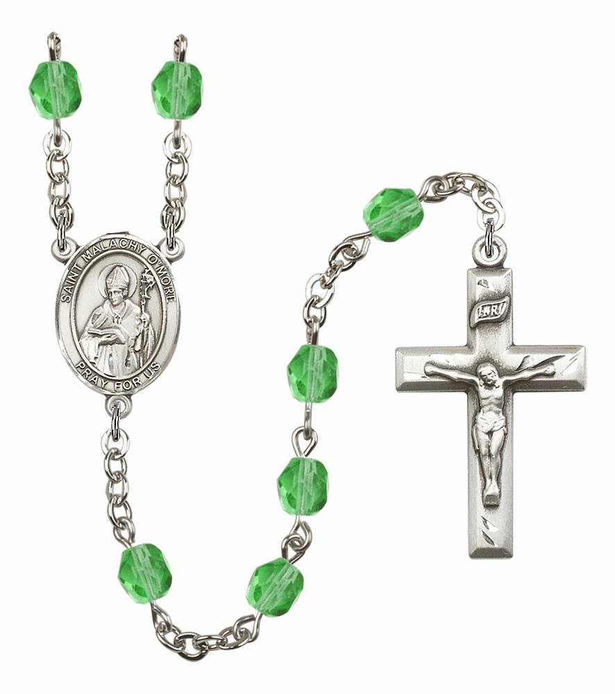 Bliss Mfg St Malachy O'More August Peridot Birthstone Rosary