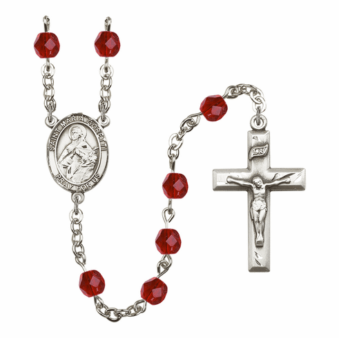 Bliss Mfg St Maria Goretti January Garnet Birthstone  Rosary