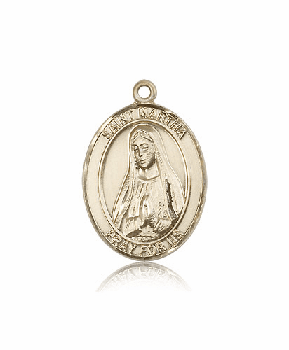 Bliss Mfg St Martha 14kt Gold Patron Saint Medal