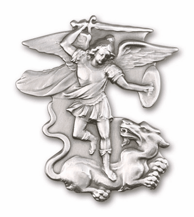 Bliss Mfg St Michael Figure Patron Saint Auto Visor Clip