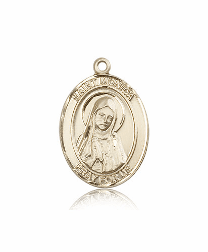 Bliss Mfg St Monica 14kt Gold Patron Saint Medal by Bliss