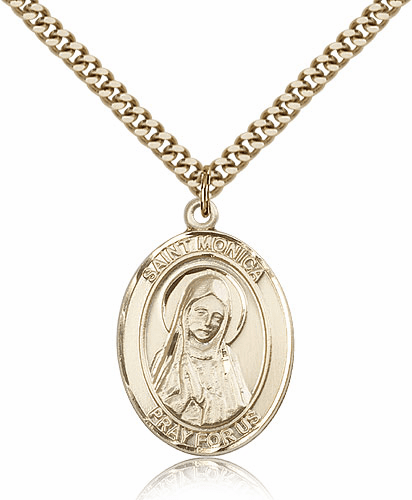 Bliss Mfg St Monica Gold Filled Patron Saint Medal