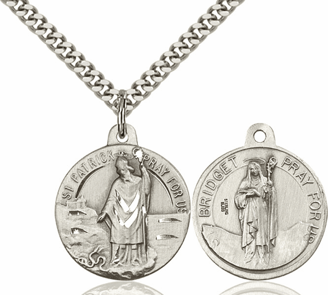 Bliss St Patrick and St Bridget Medal Necklace