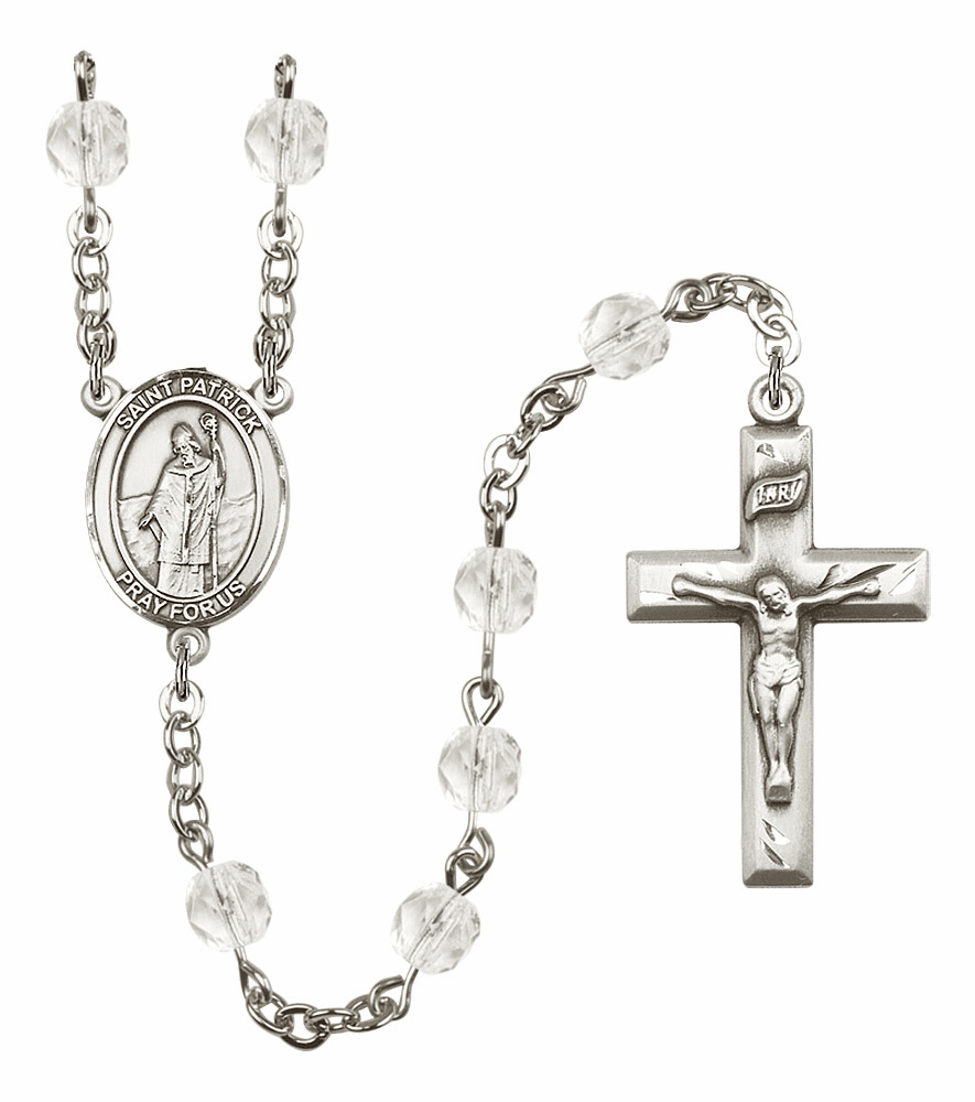 Bliss Mfg St Patrick April - Crystal Birthstone Rosary