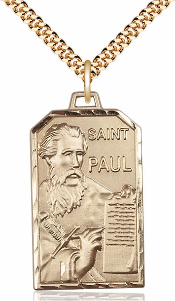 Bliss Mfg. St Paul the Apostle 14kt Gold Filled Patron Saint Medal Necklace