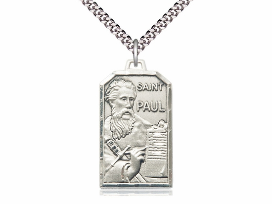 Bliss Mfg. St Paul the Apostle Sterling Silver Patron Saint Medal Necklace