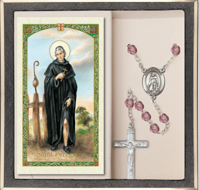 Bliss Mfg St Peregrine Prayer Rosary with Holy Card