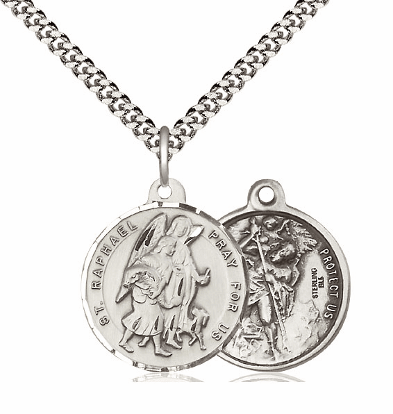 Bliss St Raphael and St Christopher Medal Necklace