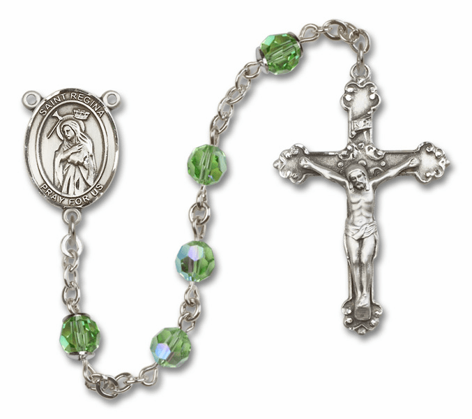 "Bliss Mfg St Regina Swarovski Crystal Sterling Silver Catholic Saint Rosary - ""More Options"""