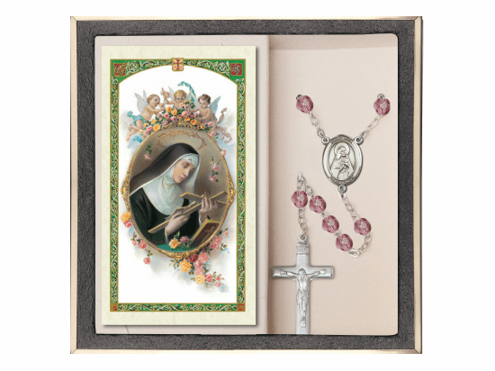 Bliss Mfg St Rita of Cascia Prayer Rosary with Holy Card