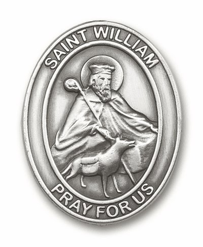 Bliss Mfg St William Patron Saint Auto Visor Clip