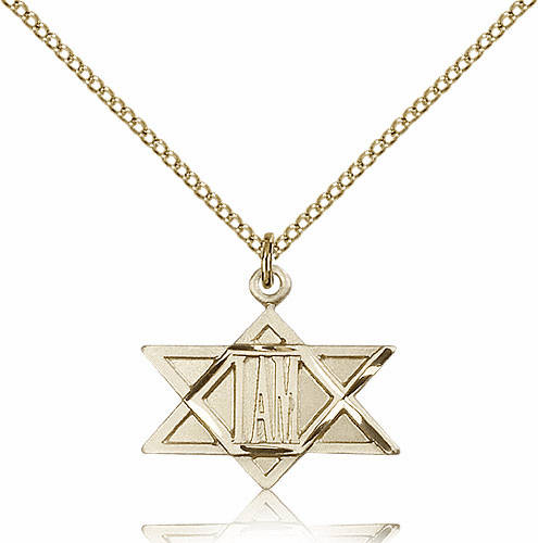 "Bliss Mfg Star of David ""I AM"" 14kt Gold-filled Medal Necklace"