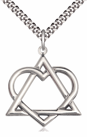 Bliss Mfg Sterling Silver Adoption Heart Pendant Necklace