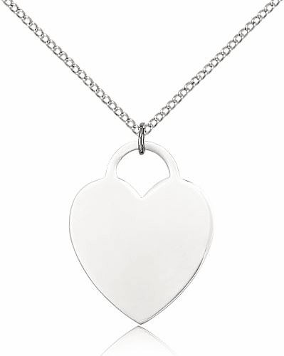 Bliss Mfg Sterling Silver Heart Pendant Necklace