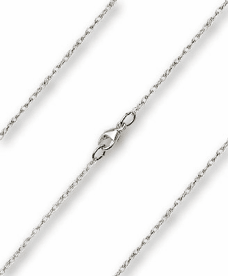 Bliss Mfg Sterling Silver-Rhodium Finished 0.90mm Lite Rope Chain Necklace