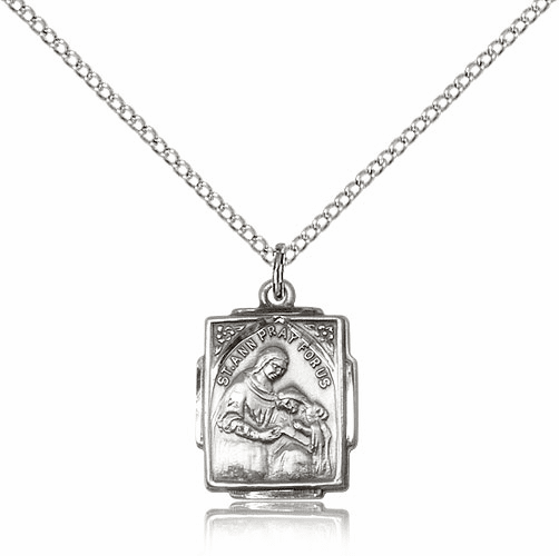 Bliss Mfg Sterling Silver St Ann and Mary Pendant Necklace