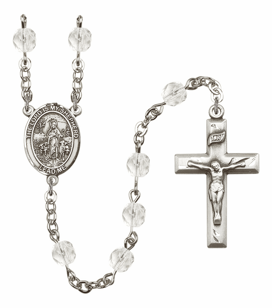 Bliss Mfg The Lord is My Shepherd April - Crystal Birthstone Rosary