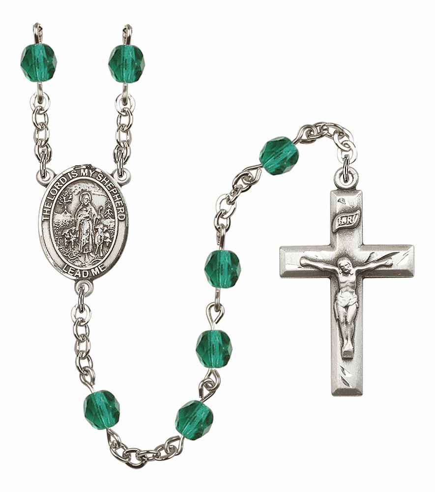 Bliss Mfg The Lord is My Shepherd December Zircon Birthstone Rosary