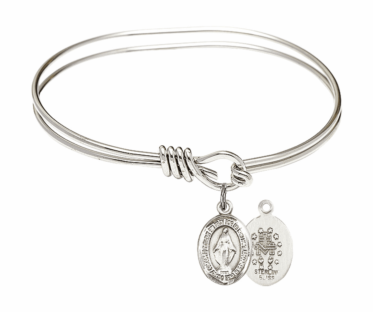 Bliss Miraculous Medal Bangle Bracelets