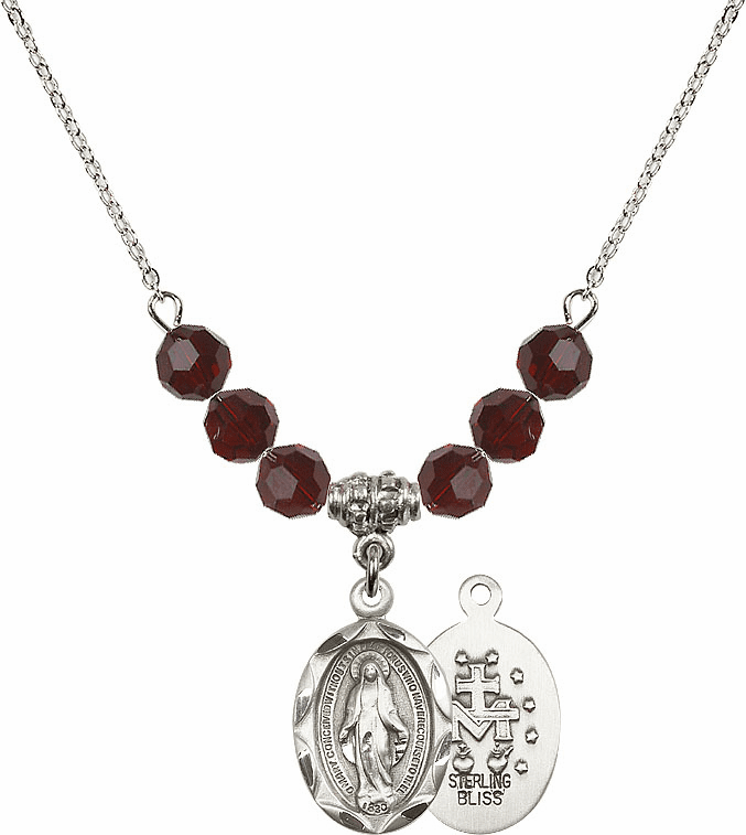 Bliss Miraculous Medal Beaded Necklaces