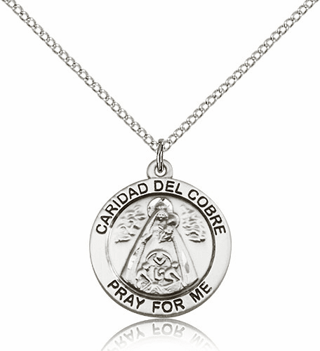 Bliss Our Lady Caridad Del Cobre Sterling Silver Pendant