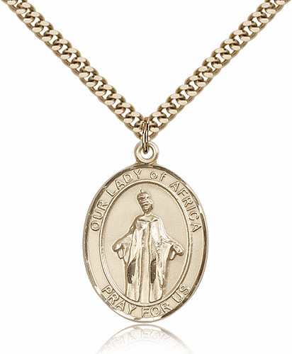 Bliss Our Lady of Africa 14kt Gold Filled Patron Saint Medals