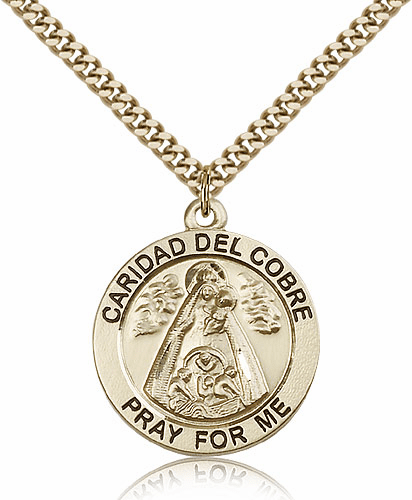 Bliss Our Lady of Caridad Del Cobre 14kt Gold-Filled Patron Medal
