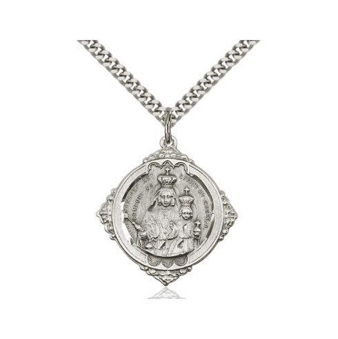 Bliss Our Lady of Consolation with Sacred Heart Necklace