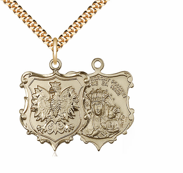 Bliss Our Lady of Czestochowa 14kt Gold-Filled Medal Necklace