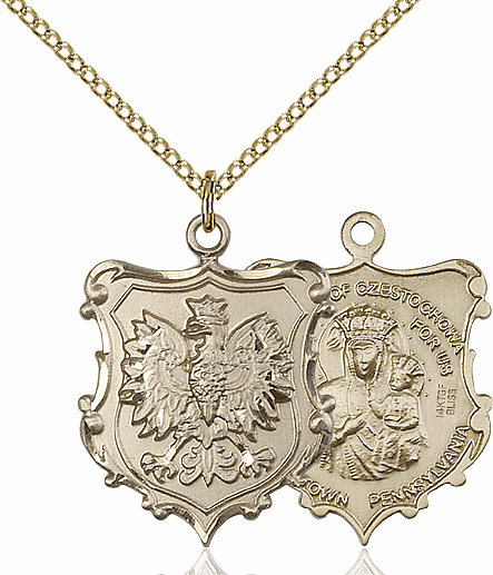 Bliss Our Lady of Czestochowa  Gold-Filled Medal Necklace