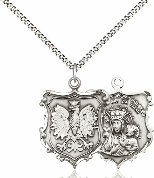 Bliss Our Lady of Czestochowa Pewter Necklace