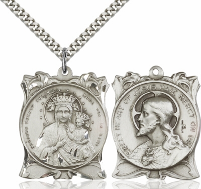 Bliss Our Lady of Czestochowa/Sacred Heart of Jesus Necklace