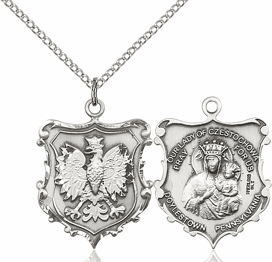 Bliss Our Lady of Czestochowa Sterling Silver Necklace
