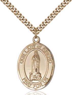 Bliss Our Lady of Kibeho 14kt Gold-Filled Patron Saint Medal Necklace