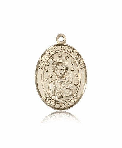 Bliss Our Lady of La Vang 14kt Gold Patron Saint Medal