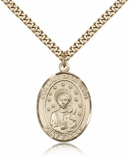 Bliss Our Lady of La Vang Gold-filled Patron Saint Medals