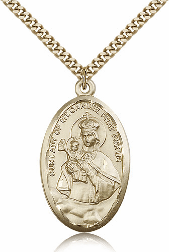 Bliss Our Lady of Mount Carmel Patron Necklace