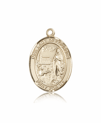 Bliss Our Lady of of Lourdes 14kt Gold Patron Medal