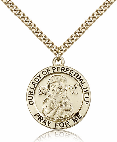 Bliss Our Lady of Perpetual Help 14kt Gold-Filled Pendant Necklace