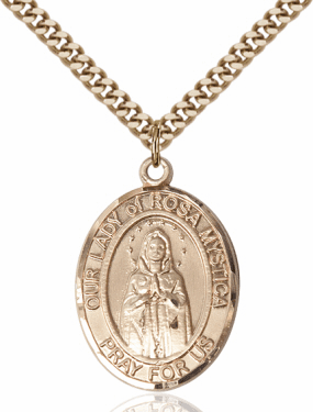 Bliss Our Lady Of Rosa Mystica 14kt Gold-Filled Medal Necklace