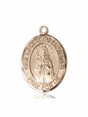 Bliss Our Lady Of Rosa Mystica 14kt Gold Pendant