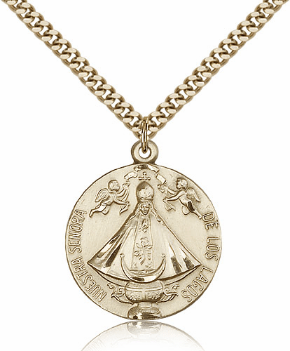 Bliss Our Lady of San Juan Senora de Los Lagos 14kt Gold-Filled Medal Necklace