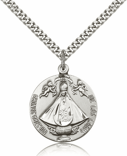 Bliss Our Lady of San Juan Senora de Los Lagos Sterling Silver Necklace