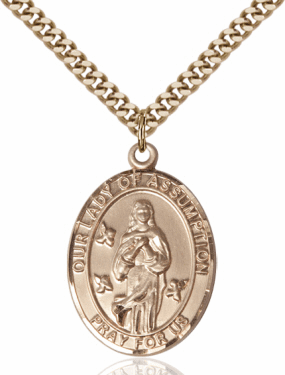 Bliss Our Lady of the Assumption 14kt Gold-Filled Medal Necklace
